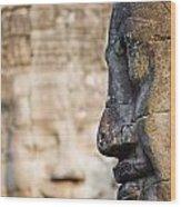 Profile Of Avalokiteshvara Statue Wood Print