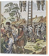 Protestant Martyrs, 1563 Wood Print by Granger