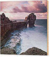 Pulpit Rock Wood Print