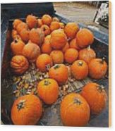 Pumpkins In The Back Wood Print