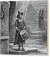 Puritan Church Drummer Wood Print by Granger