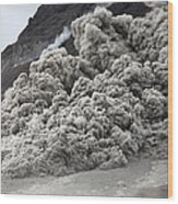 Pyroclastic Flow Descending The Flank Wood Print