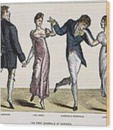 Quadrille, 1820 Wood Print