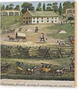 Quaker Meeting, 1811 Wood Print by Granger