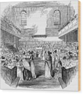 Quaker Meeting, 1843 Wood Print