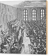 Quaker Meeting Wood Print by Granger