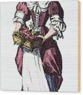 Quaker Woman 17th Century Wood Print by Granger