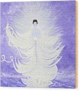 Quan Yin Wood Print by Judy M Watts-Rohanna
