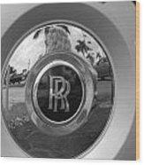 R R Wheel Wood Print