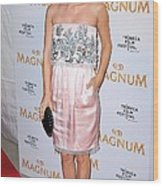 Rachel Bilson Wearing A Chanel Couture Wood Print