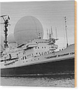 Radio Antennae On A Soviet Ship Wood Print