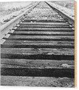 Railroad Tracks Wood Print by Michael Ringwalt