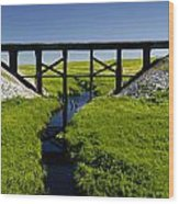 Railroad Trestle Wood Print