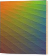 Rainbow Waves Wood Print