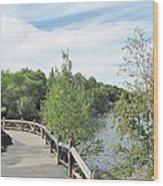 Ramsey Lake Boardwalk Wood Print