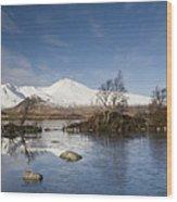 Rannoch Moor - Winter Wood Print