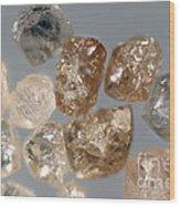 Raw Diamonds Wood Print