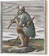 Recorder, 1723 Wood Print