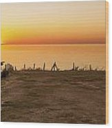 Reculver Sunset Wood Print