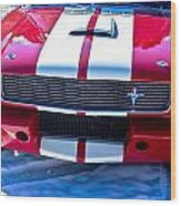 Red 1966 Ford Mustang Shelby Wood Print