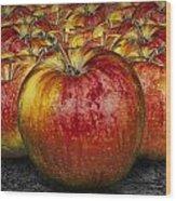 Red Apples Wood Print
