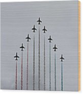 Red Arrows Vertical Wood Print by Jasna Buncic