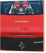 Red Ferrari Wood Print
