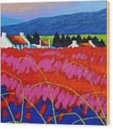 Red Meadow Wood Print