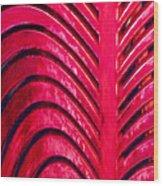 Red Ribs Wood Print