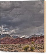 Red Rock Storm Wood Print