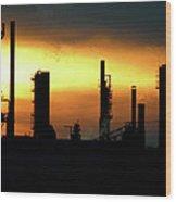 Refinery Wood Print