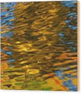 Reflection In Water. Wood Print
