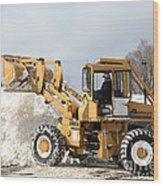 Removing Snow Wood Print by Ted Kinsman