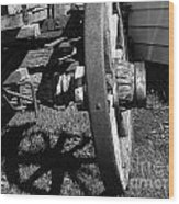 Retired Wagon Wood Print