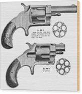 Revolvers, 19th Century Wood Print