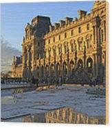 Richelieu Wing Of The Louvre Museum In Paris Wood Print