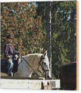 Riding Soldiers Wood Print