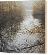 River In The Fog Wood Print
