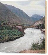 River Urubamba Through The Sacred Valley Of The Incas Wood Print by Ronald Osborne