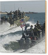Riverine Command Boats And Security Wood Print