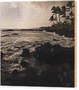 Rocky Coastline, Poipu, Kauai, Hawaii Wood Print