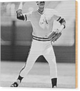 Rollie Fingers (1946- ) Wood Print by Granger
