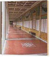 Roman Garden Walkway Wood Print