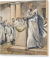 Roman Senate: Catiline Wood Print
