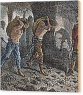 Roman Slavery: Coal Mine Wood Print
