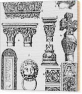 Romanesque Ornament Wood Print