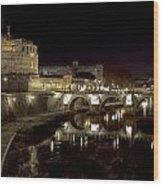 Rome Ponte San Angelo Wood Print