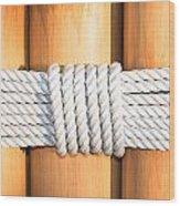 Rope Wood Print by Tom Gowanlock