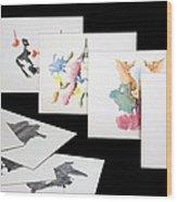 Rorshach Inkblot Test Wood Print