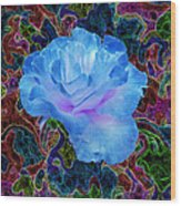 Rose In The Matter Of Your Hand 4 Wood Print
